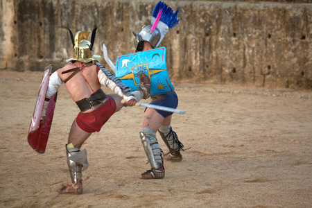 merida: Gladiators fighting at Merida