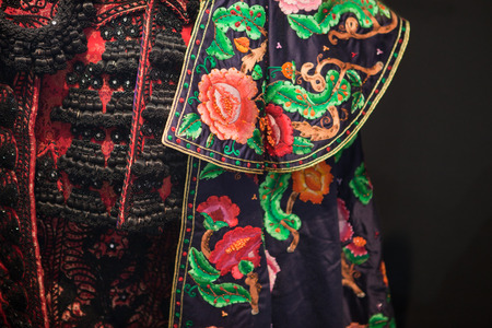 costum: Detail of a traje de luces, the costum of a torero, Spain
