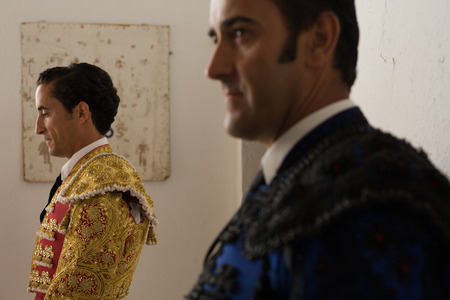 BADAJOZ, SPAIN, JUNE 21  The spanish torero Ambel Posada before ceremonial entry of bullfighters, on June 21, 2014 in Badajoz, Spain