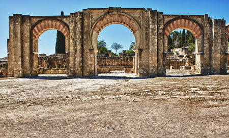 caliphate: Access gate of Medina Azahara, palace city, Near Cordoba, Andalusia, Spain Stock Photo