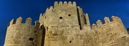 masonary: A view of the Spanish medieval arabian tower Calahorra in Cordoba