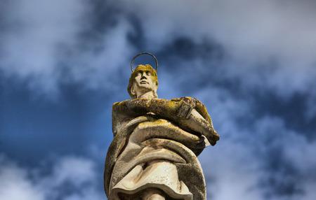 san rafael: San Rafael Archangel statue on Potro Square, Cordoba, Andalusia, Spain
