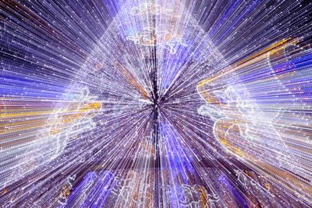 zoomed in: Led Christmas tree decoration in motion zoomed shot Stock Photo