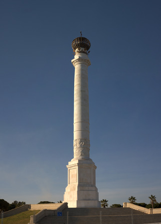 huelva: Huge column of La Rabida Monastery Gardens, Huelva, Spain