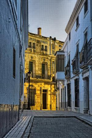 badajoz: Street. Olivenza, Badajoz province, Extremadura, Spain. Stock Photo