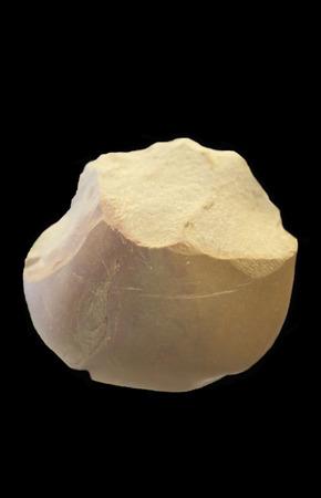 neolithic: Bifaz Neol�tico. Herramientas de piedra a dos caras utilizado como prop�sitos m�ltiples cuchillo, fabricado mediante un proceso de reducci�n l�tica, que muestra las cicatrices de escamas en ambos lados