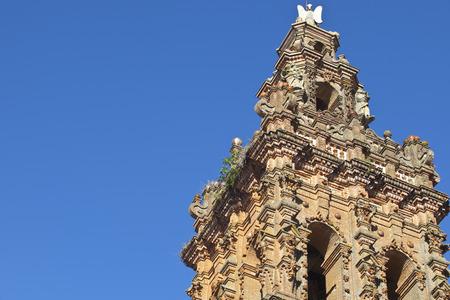 mudejar: Tower of San Miguel church at Jerez de los Caballeros, Badajoz, Spain. Mudejar style