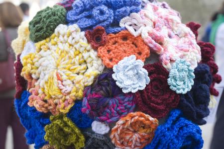 badajoz: Hand crocheted crafts showing Badajoz Spain