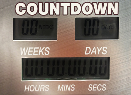digital timer: Digital countdown timer with big numbers inside