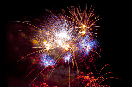 san juan: Colorful fireworks at San Juan night festivity, Spain