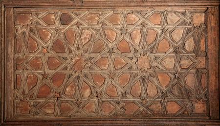 mudejar: Toledo coffered ceiling decoration, Spain
