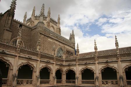 atrium: Gothic atrium of Monastery of Saint John of the Kings, Toledo, Spain