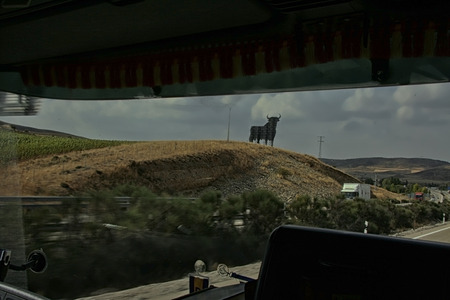 unofficial: The Osborne bull from the interior a heavy truck. This bull is regarded as the unofficial national symbol of Spain