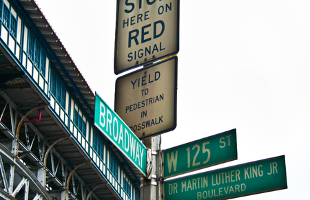 martin luther king: New York Martin Luther King Boulevard sign, New York