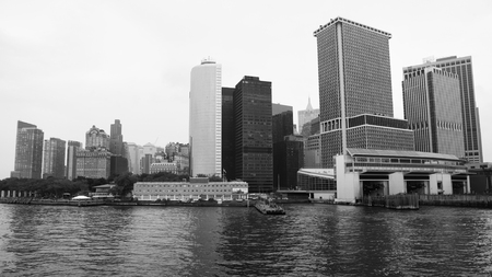 staten: Whitehall Terminal of Staten Island, Black and White shot