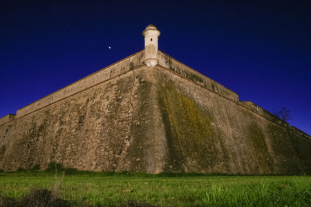 stronghold: Stronghold bastion belong to XVII Century sorrounding wall of Olivenza, Badajoz, Spain