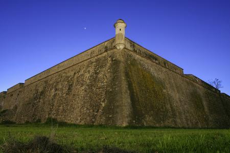 bastion: Stronghold bastion belong to XVII Century sorrounding wall of Olivenza, Badajoz, Spain
