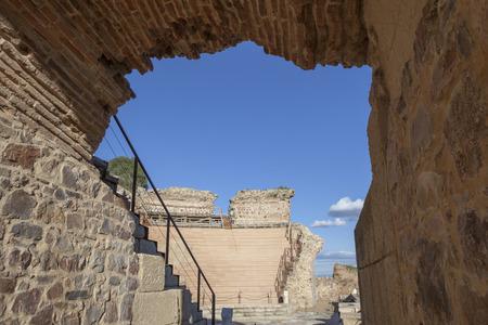 pius: Roman theatre of Medellin, Spain. Side Arch entry