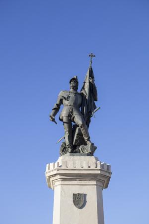 pizarro: Statue of Hernan Cortes, Mexico conqueror, Medellin, Spain
