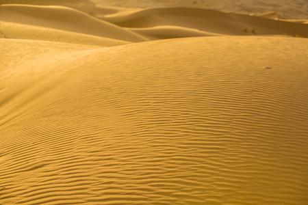 merzouga: Sand textures at sunrise over Erg Chebbi dunes area, Merzouga, Morocco Stock Photo