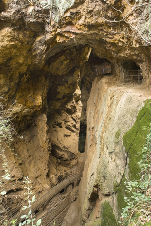 extremadura: Mine The Jayona . An old iron mine declared natural monument, Extremadura, Spain