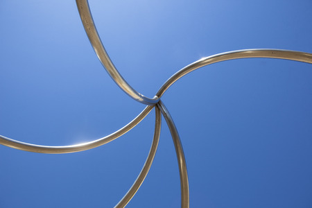 Badajoz, Spain, April 19: Congress Center building designed by Jose Selgas and Lucia Cano. Steel helix