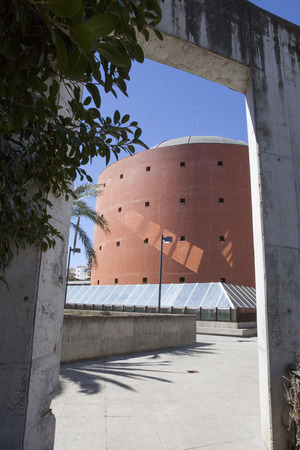 congress center: Badajoz, Spain - April 1: MEIAC Museum building on April 1, 2016 in Badajoz, Spain. Situated on the area of the former prison of Badajoz, redesigned by JA Galea
