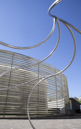 cano: Badajoz, Spain - April 1, 2016: Congress Center Manuel Rojas. Designed by Jose Selgas and Lucia Cano Editorial