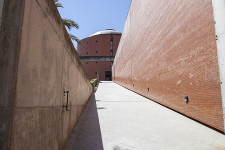 congress center: Badajoz, Spain - April 1, 2016: MEIAC Museum building. Situated on the area of the former prison of Badajoz, redesigned by JA Galea