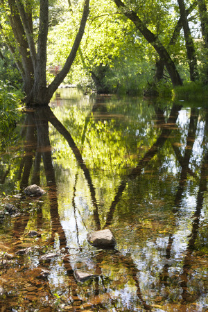 badajoz: Gevora River crossing La Codosera Town, close to Portugal Border, Badajoz, Spain