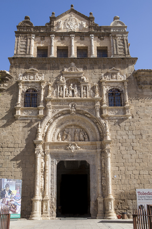 plateresque: Toledo, Spain - July 28, 2016: plateresque facade of Santa Cruz Museum, 16th-century, Toledo, Spain