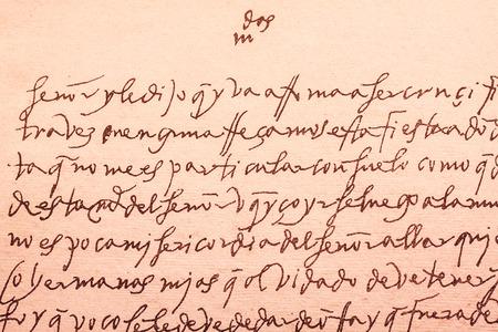 xvi: Old letter written by Santa Teresa de Jesus a celebrated religious spanish writer woman in XVI century