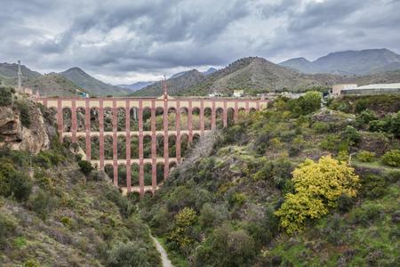 nerja: Aqueduct Puente del Aguila or Eagle Bridge in Nerja, Malaga, Spain