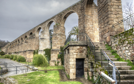 anton: San Anton Aqueduct, built in  16th century, Plasencia, Caceres, Spain Stock Photo