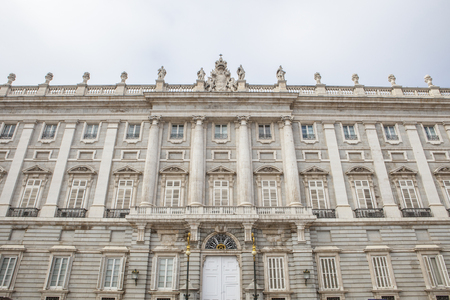 stereotypically: Facade of Royal Palace in, Madrid, Spain. North east facade Stock Photo