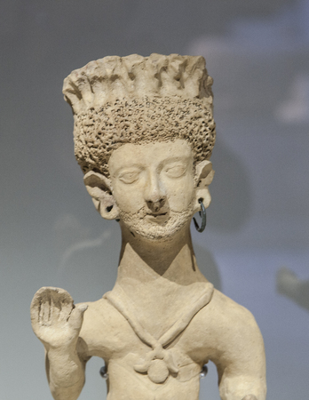 Madrid, Spain - February 24, 2017: Representation of Carthaginian goddess Baal Hammon, at National Archeological Museum of Madrid