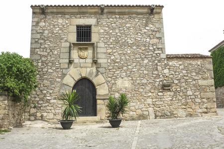 Francisco Pizarro Family House in Trujillo, Spain. conquistador who led an expedition that conquered the Inca Empire Stock Photo