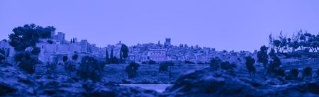 Badajoz, Spain - june 20, 2017: night diorama scene recreates the city of Badajoz on 1668 times, Luis de Morales Museum Editorial