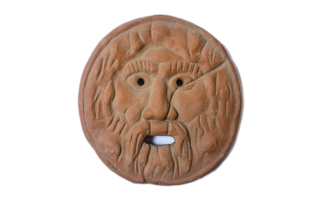 Mouth of Truth or Bocca della Verit�. Replica of  the famous marble mask in Rome, Italy Stock Photo