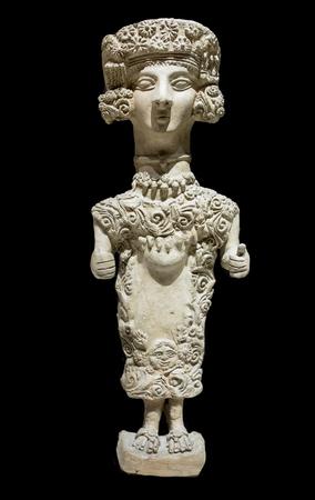 Madrid, Spain - November 10th, 2017: Lady of Ibiza, representation of Carthaginian goddess Tanit. National Archeological Museum of Madrid Editorial