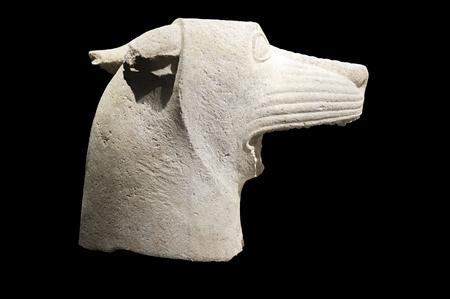 Jaen, Spain - December 29th, 2017: Wolfs head of Heroic Shrine of El Pajarillo, Huelma, Jaen at Iberian Museum of Jaen Redakční