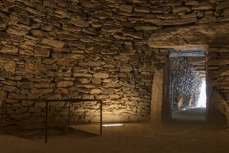 Antequera, Spain - July 10th, 2018: Tholos de El Romeral, main chamber.  Antequera, Malaga, Spain