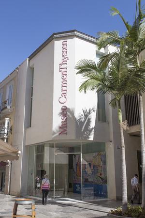 Malaga, Spain - July the 9th, 2018: Museum Carmen Thyssen, at historic center of Malaga, Spain Editorial