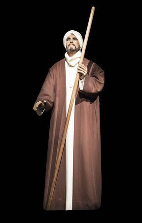 Cordoba, Spain - 2018, Sept 8th: Life-sized sculpture of Ibn Arabi, Andalusian Muslim scholar, mystic, poet, and philosopher. Calahorra Tower Museum, Cordoba, Spain Editorial