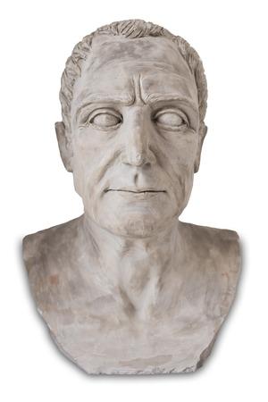Montilla, Spain - March 2nd, 2019: Julius Caesar bust at Montilla Historical Museum, Cordoba, Spain. Reproducton