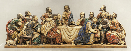 Caceres, Spain - March 28th, 2019: Last Supper depiction at Guayasamn House-Museum. Extremadura, Spain
