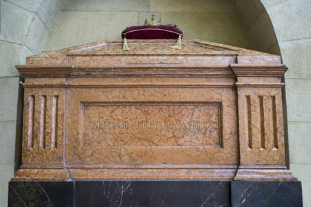 Cordoba Spain -  Dec 7th, 2019: Tomb of Alfonso XI of Castile at Royal Collegiate Church of Saint Hippolytus