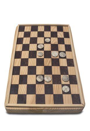 Reconstruction of ancient roman board game of Ludus latrunculorum, latrunculi, or latrones. Isolated