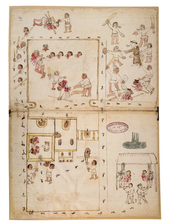 Manuscript know as Codex Ixtacamaxtitlan, 16th Century; document 75. National Library of France
