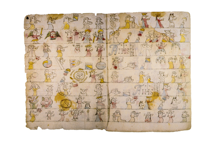 Codex Magliabechiano. 16th century pictorial Aztec codex during Spanish colonial period Editorial